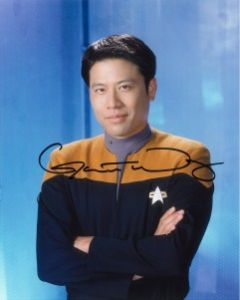 Garrett Wang Star Trek: Voyager as Ensign Harry Kim rare hand signed autograph